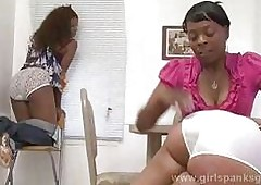Black girls getting spanked